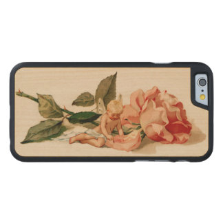 """I love thee"" cupid cherub victorian valentine Carved Maple iPhone 6 Slim Case"