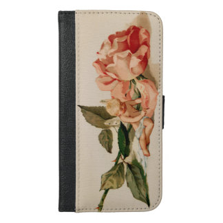 """I love thee"" cupid cherub victorian valentine iPhone 6/6s Plus Wallet Case"