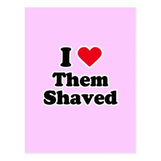I love them shaved postcard