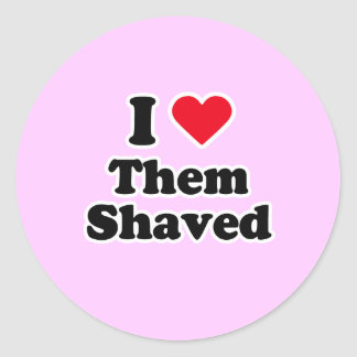 I love them shaved round stickers