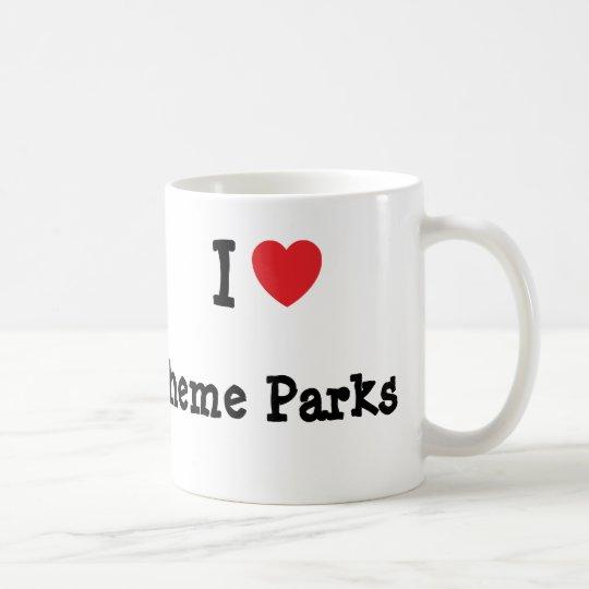 I love Theme Parks heart custom personalized Coffee Mug