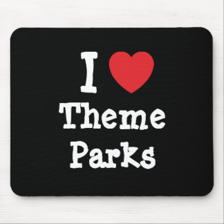I love Theme Parks heart custom personalized Mouse Pad