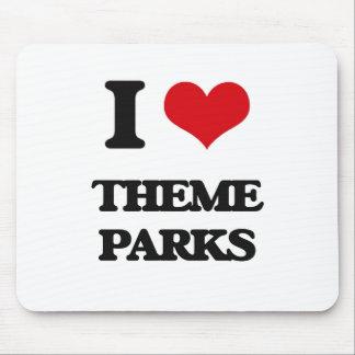 I love Theme Parks Mouse Pad
