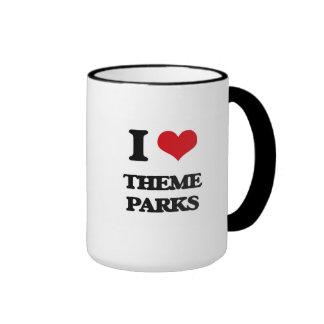 I love Theme Parks Ringer Coffee Mug