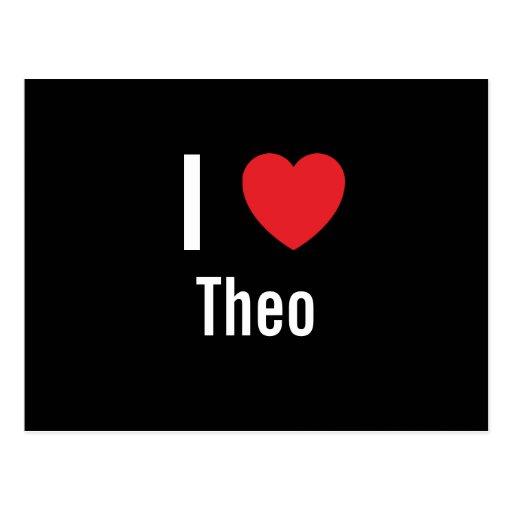 I love Theo Postcard