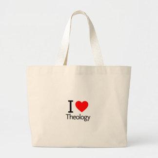 I Love Theology Large Tote Bag