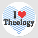I Love Theology Round Stickers