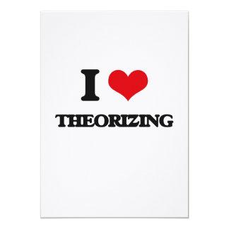 I love Theorizing 5x7 Paper Invitation Card