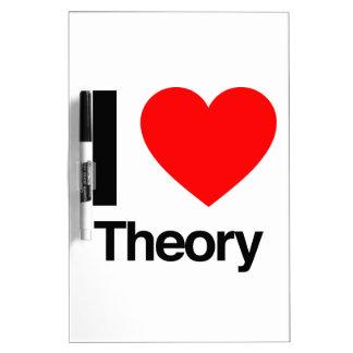 i love theory dry erase white board