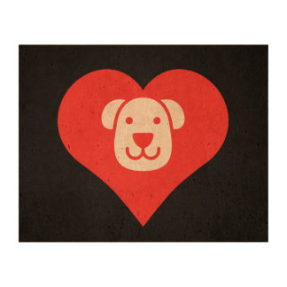 I Love Therapy Dogs Cool Icon Cork Paper