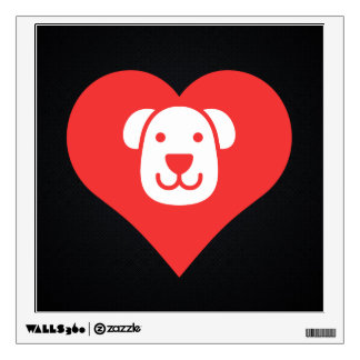 I Love Therapy Dogs Cool Icon Wall Decals