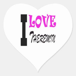 I Love Theremin Heart Sticker