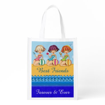 Beach Themed I LOVE THESE Bags - BFF Beach Girls Tote - srf