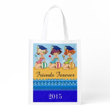 Beach Themed I LOVE THESE Bags - Graduation Best Friends Tote Reusable Grocery Bags
