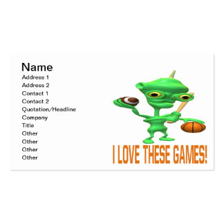 I Love These Games Business Card