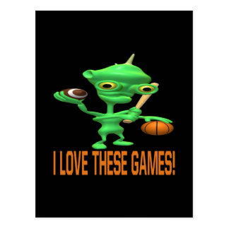 I Love These Games Postcard