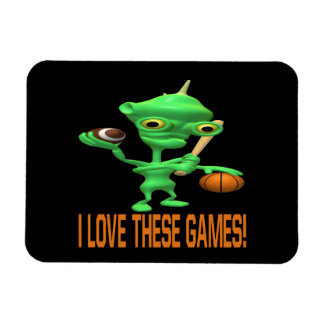 I Love These Games Rectangular Photo Magnet