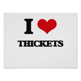 I love Thickets Poster