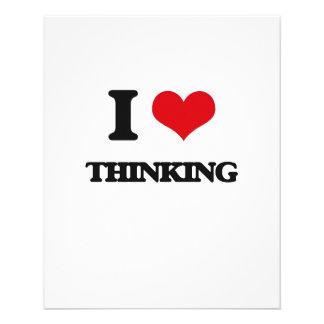 "I love Thinking 4.5"" X 5.6"" Flyer"