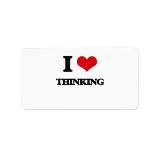 I love Thinking Address Label