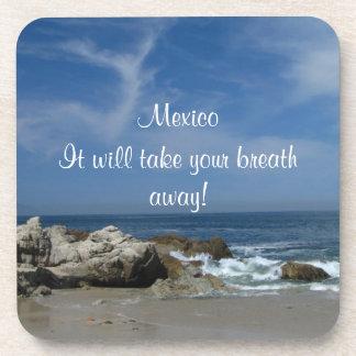 I Love This Beach; Mexico Souvenir Coaster