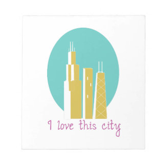 I Love This City Note Pads