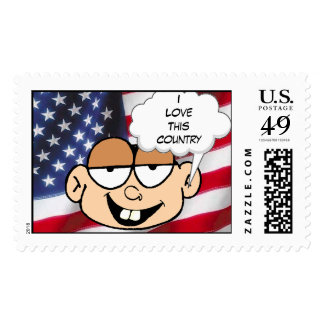 """""""I Love This Country"""" Stamps"""