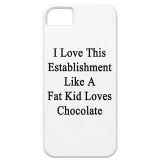 I Love This Establishment Like A Fat Kid Loves Cho iPhone SE/5/5s Case