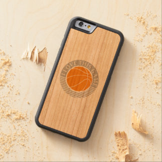 I love this game - basketball carved cherry iPhone 6 bumper case