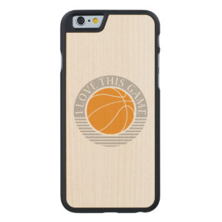 I love this game - basketball carved maple iPhone 6 slim case