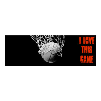 I Love This Game - Basketball Panoramic Poster