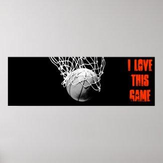 I Love This Game - Basketball Panoramic Poster