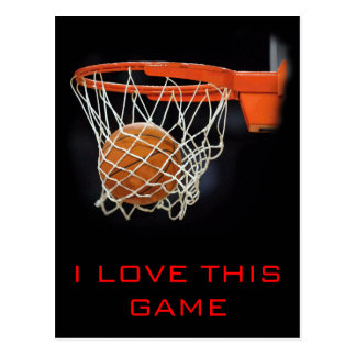 I Love This Game Basketball Postcard