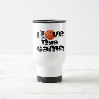 I Love This Game Basketball Travel Mug