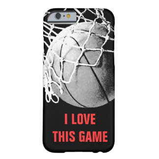 I Love This Game Basketball Unique Barely There iPhone 6 Case