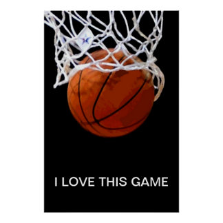 I Love This Game Close-up Basketball Poster