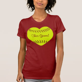 I Love This Game Fastpitch Softball T-Shirt