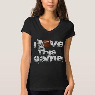 I Love This Game Football Black Shirt