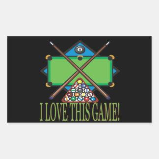 I Love This Game Rectangular Sticker