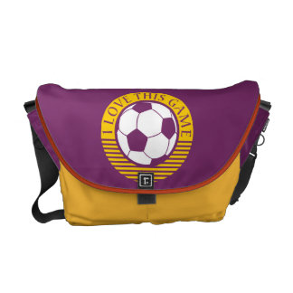 I love this game - soccer / football ball courier bag