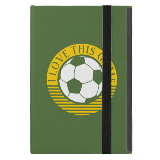 I love this game - soccer / football ball cover for iPad mini
