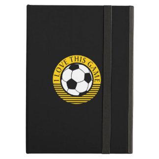 I love this game - soccer / football ball iPad air case