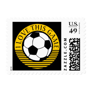 I love this game - soccer / football ball postage