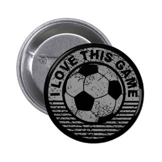 I love this game - soccer / football grunge button