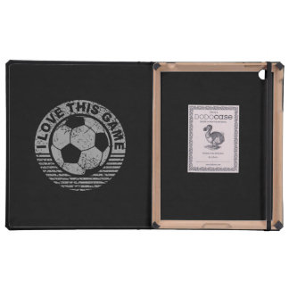 I love this game - soccer / football grunge iPad cases