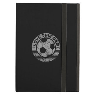 I love this game - soccer / football grunge iPad air covers