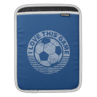 I love this game - soccer / football grunge sleeves for iPads