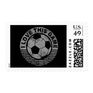 I love this game - soccer / football grunge postage