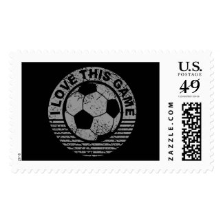 I love this game - soccer / football grunge stamp