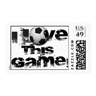 I Love This Game Soccer Postage